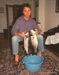 1987 Lubinas cogidas mediante la pesca submarina